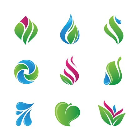 In touch with nature logo and icon