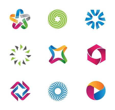unicef: Simboli fresco e colorato Vettoriali