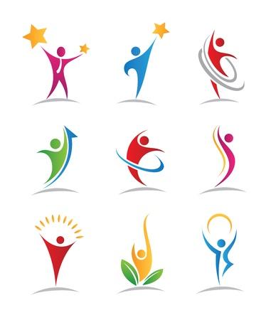 estrellas: Logos Armon�a e iconos Vectores