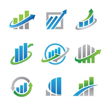 economies: logos et ic�nes stock