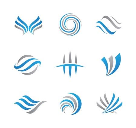 Abstracte logo en het pictogram