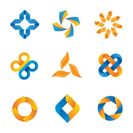 compromise: Logo bucle fr�o y el icono Vectores