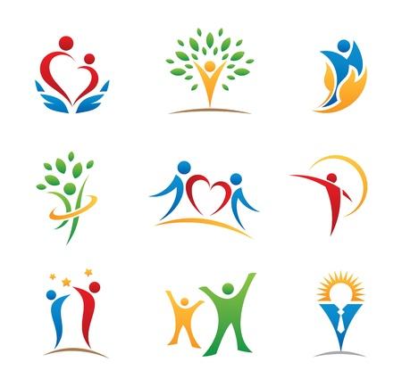 Szczęśliwy lud, a ikona logo