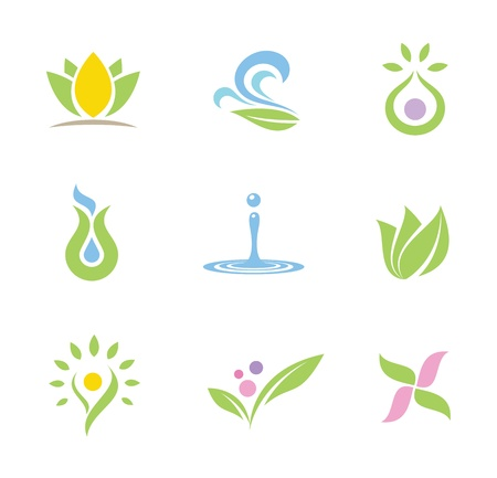 intention: Spa set of  icons