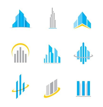 palazzo: Logo Building e icona Vettoriali