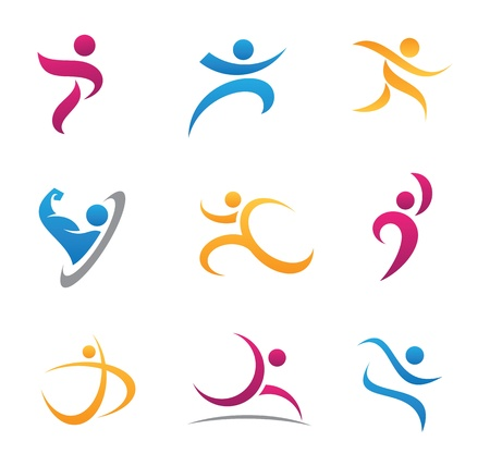 Sport symbol and icon Illustration