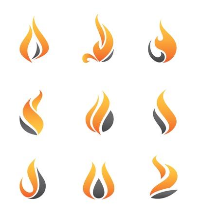 火災のアイコン  イラスト・ベクター素材