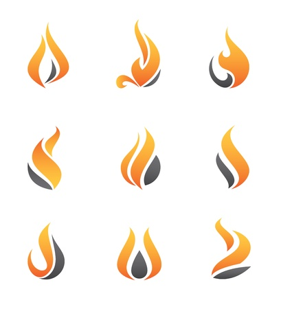 Fire icons Stock Vector - 20846741