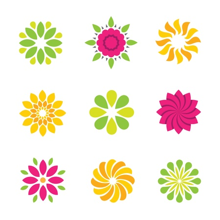 Flower symbol and icon Vector