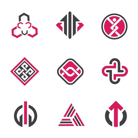 strength: Graphic symbols and technology concept Illustration