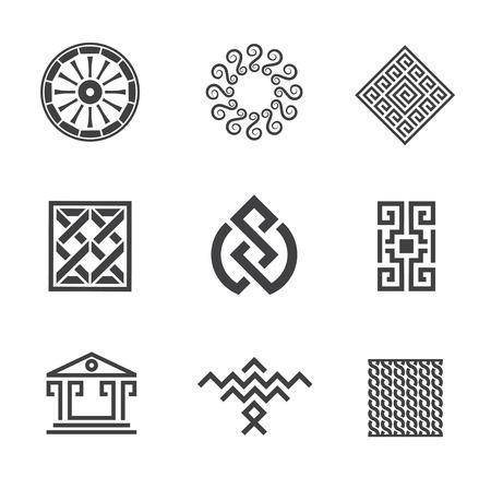 lucky bag: History of human construction decoration creativity logo template