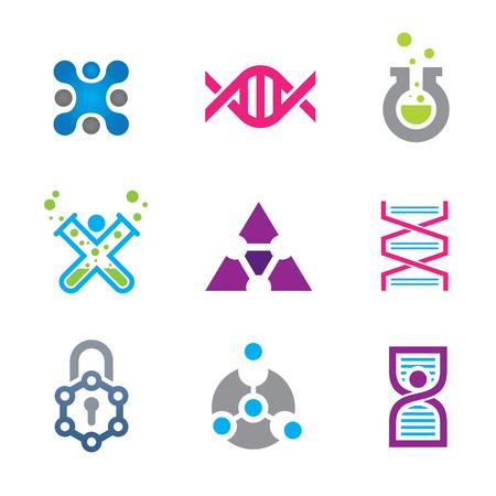 provexemplar: Ny värld av senaste tekniken inom vetenskap logo mall