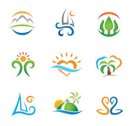 体験旅行パラダイスとライブの自由なロゴのテンプレート