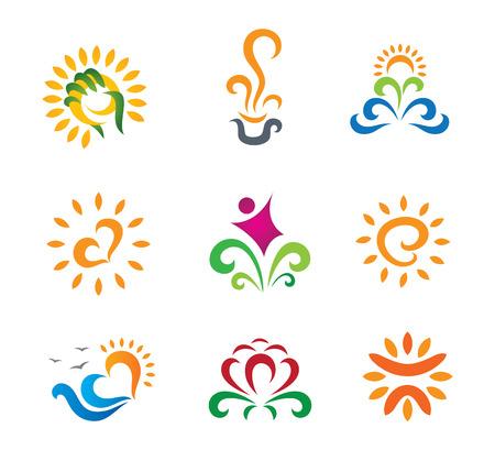 warmness: Beautiful nature modern retro symbols for business logo Illustration