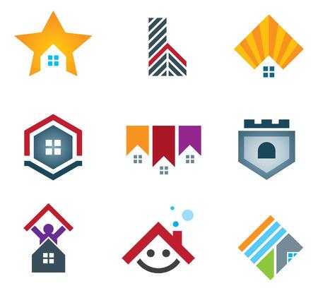 house: Mijn mooie huis en huis iconen vector illustratie