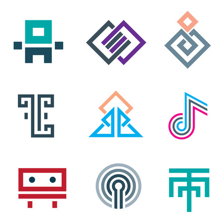 moll: Hard lines simple pixel pictogram computer icon set