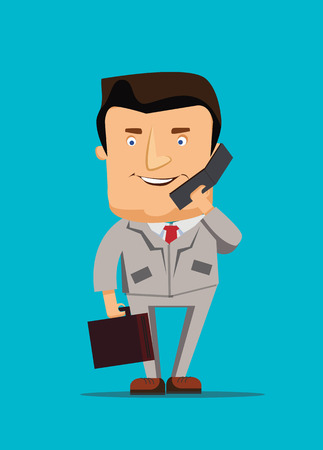 Businessman illustration talking on a phone business vector illustration Vector