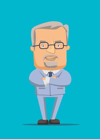 ビジネス CEO の第一人者と分析マネージャーのオルガナイザー ベクトル イラスト  イラスト・ベクター素材