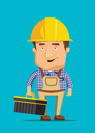 maintenance technician: Electrical maintenance technician worker human job illustration