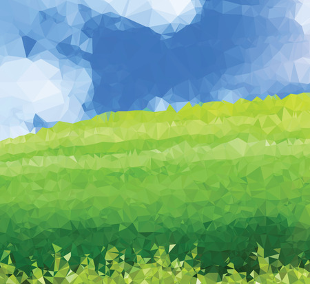 landscape painting: Background modern texture triangle geometry landscape painting