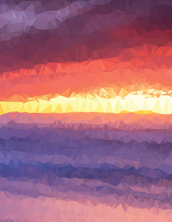 sunset painting: Background modern texture triangle geometry sunset painting Illustration