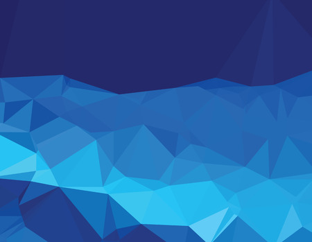 deep blue: Background abstract triangle geometry pattern deep blue world