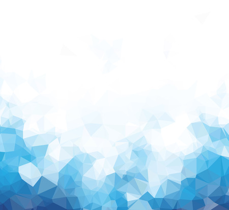 Background abstract triangle geometry pattern blue blank page Illustration
