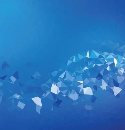 Background abstract triangle geometry pattern blue energy Vector
