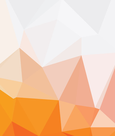simple geometry: Background abstract triangle geometry pattern royal orange Illustration