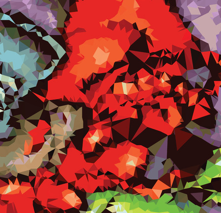 art painting: Background abstract triangle geometry pattern luxury art painting Illustration