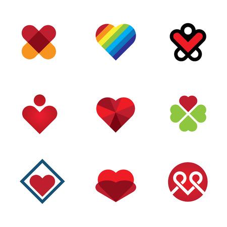 dar un regalo: Dale don especial amor rojo icono del símbolo del corazón Vectores