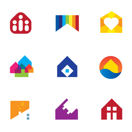 Real estate building construction home monument with passion icon Vector