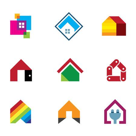safe world: Design safe home real estate interior construction icon