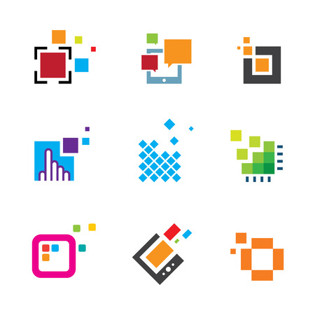 integrate: Just be creative abstract colorful design geometric polygon cube icon