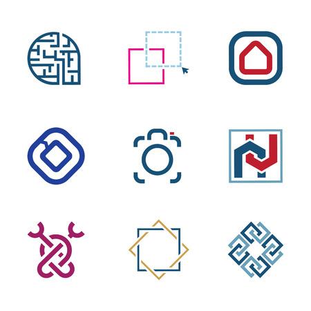 integrate: Creative puzzle edit future IT software  technology development company  Illustration