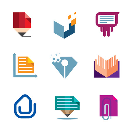 Office business document symbol of entrepreneur creativity logo icon Vector