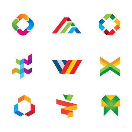 Extreme innovation and creativity human tape success logo symbol icon Vector