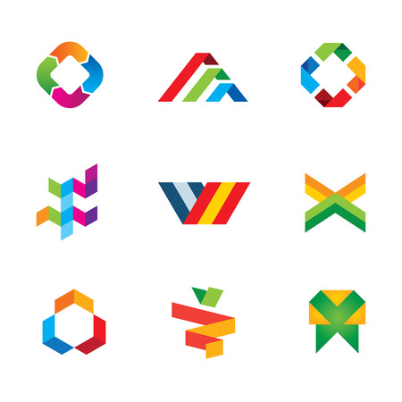 Extreme innovation and creativity human tape success logo symbol icon