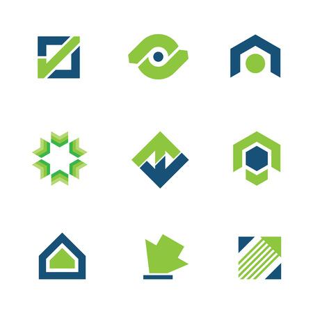 dise�os: Oro el �xito del negocio verde de la historia Stock logo icono de progreso de mercado