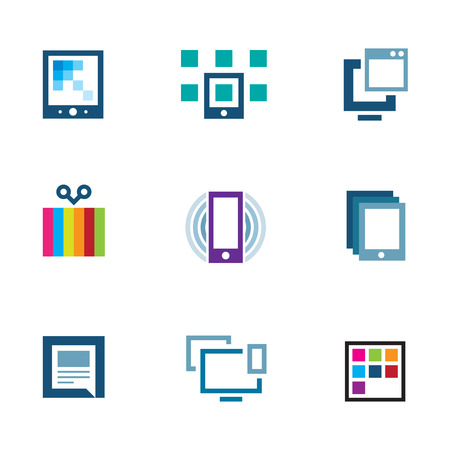 positioning: Positioning yourself edit content and share with world logo icon Illustration
