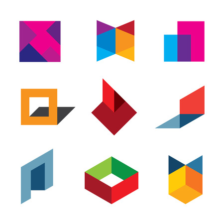 Human creativity and innovation creating new colorful worlds logo icon Vector