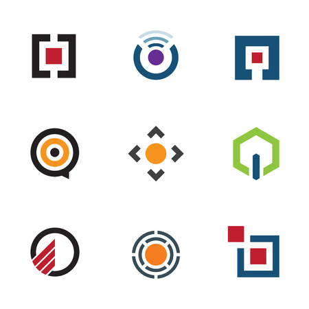 Application software menu sharing ideas for mobile future logo icon Vector