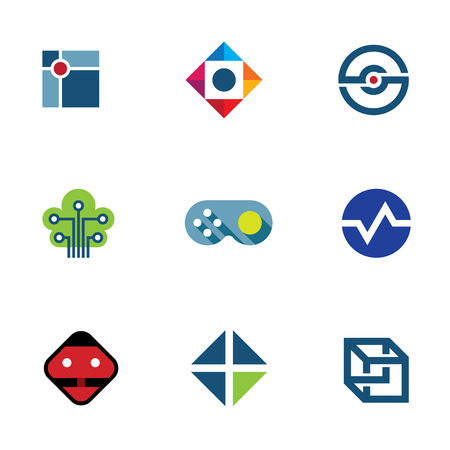 IT developer game company community professional fun ideas logo icon Vector