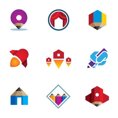 online logo: Go - live - explore - conquer online digital new business logo icon