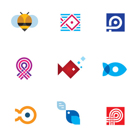 gold house: New mobile app startup icon set digital age community Illustration