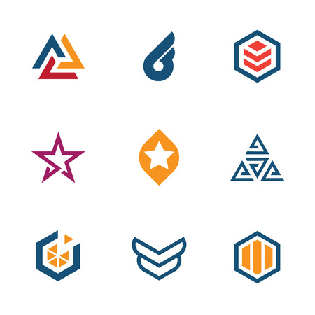 construction vehicle: The game of star success business company icon set Illustration