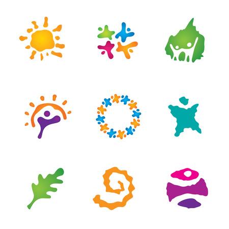 logo voyage: Toile des oeuvres d'art de belles personnes partenariat exotique logo de Voyage icône Illustration