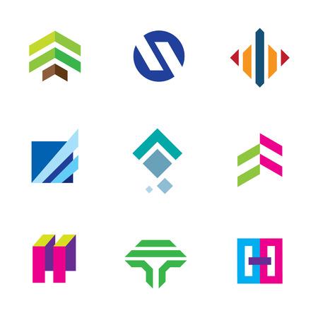 Line stripe tape elegant shape exclusive bond connection logo icon Vector