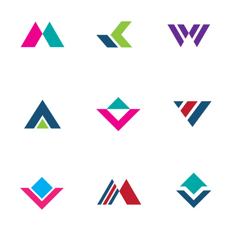 Triangle pyramid foundation company simple powerful brand creation logo icon Vectores