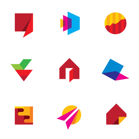 travel agency: Human creativity logo art of success icon vector company vector
